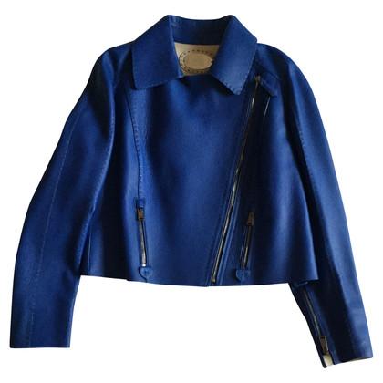Fendi Leren jas in blauw