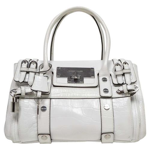 3a25ab5cdf84 Karen Millen Handbag Leather in White - Second Hand Karen Millen ...