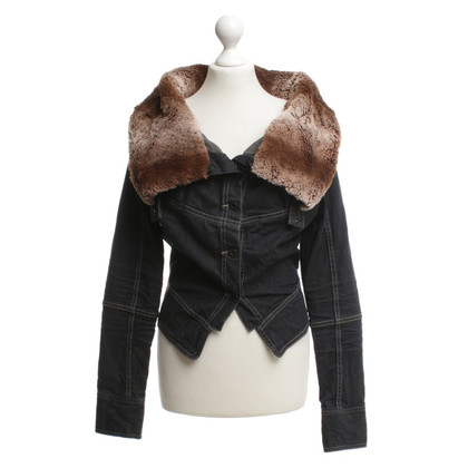 Hugo Boss Jeans jacket with woven fur