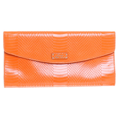 Ralph Lauren clutch with reptile embossing