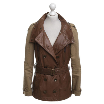 Burberry Leather jacket in brown