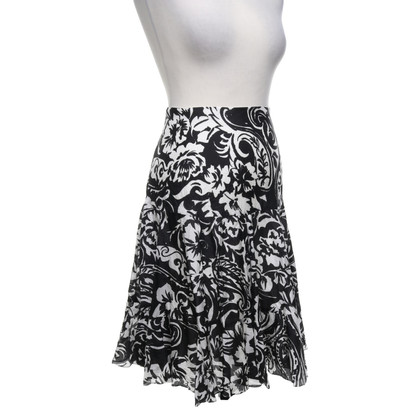Ralph Lauren Silk skirt in black and white