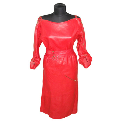 Escada Leather dress in red
