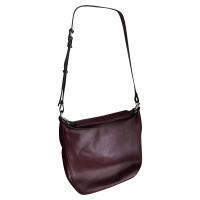 Marc by Marc Jacobs Bordeauxrote Lederhandtasche