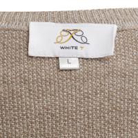 White T Cardigan in beige