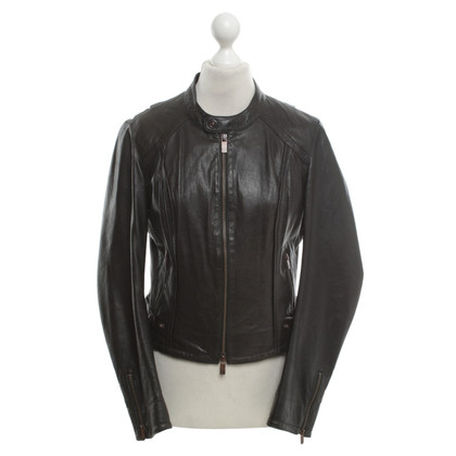 Boss Orange Leather jacket in black
