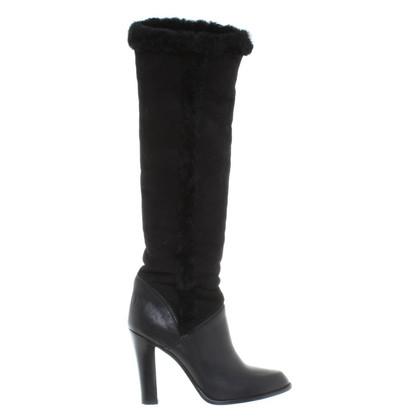Christian Dior Stiefel mit Fellbesatz