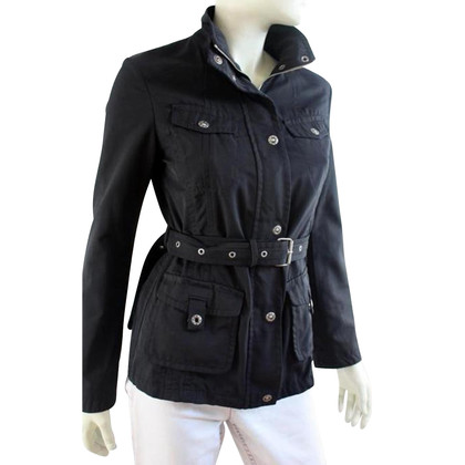 Max Mara Short Trench Coat in Black