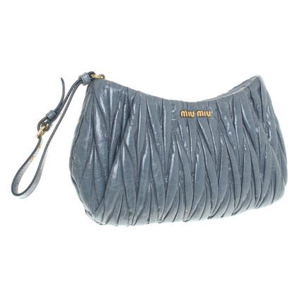 Miu Miu clutch in smoke blue