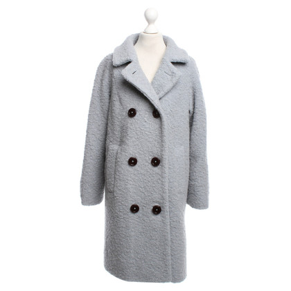 Ganni Bouclé coat in grey