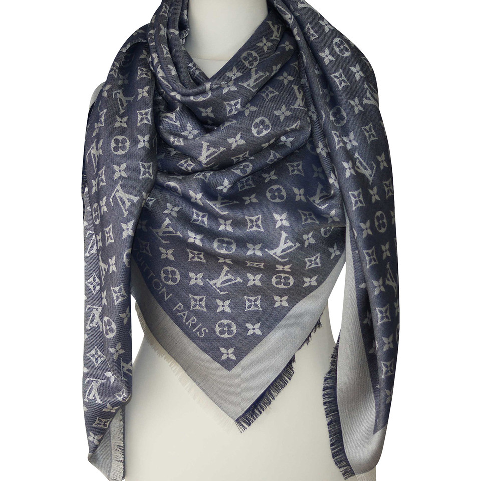 louis vuitton louis vuitton monogram denim scarf buy. Black Bedroom Furniture Sets. Home Design Ideas