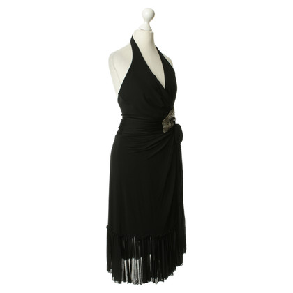 Roberto Cavalli Black Halter dress