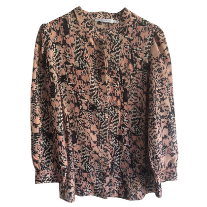 See by Chloé Silk blouse in pink/black/white