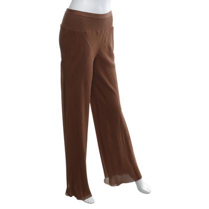 Rick Owens pantaloni di seta in marrone