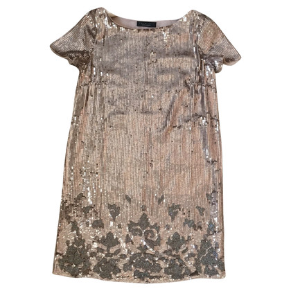Twin-Set Simona Barbieri Dress in gold-colored sequins