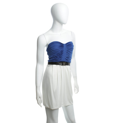 Gucci Bandeau top in blue / cream white