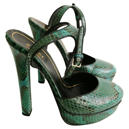 Gucci High Heels aus Pythonleder