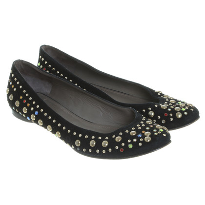 Versace Ballerinas with rivets and jewels