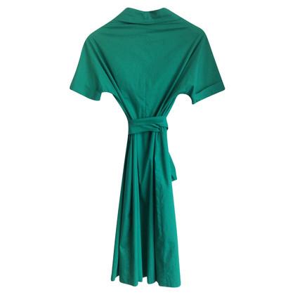 Max Mara Wikkel jurk in groen