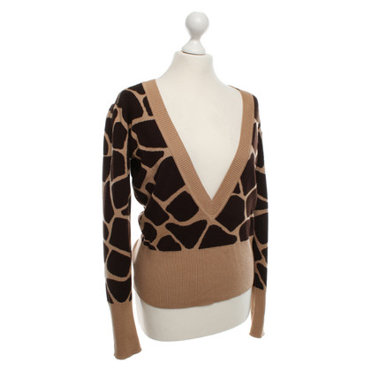 Escada Sweater with fur pattern