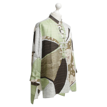 Emilio Pucci Multi-colored silk tunic