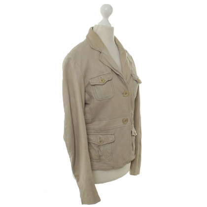 Closed Leather jacket in beige