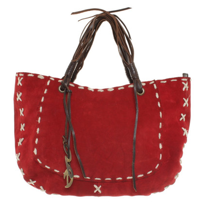 Dolce & Gabbana Suede handbag in red