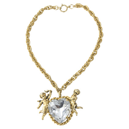Moschino Vintage heart necklace