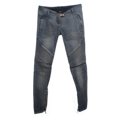 Balmain Skinny jeans met Bikerelementen