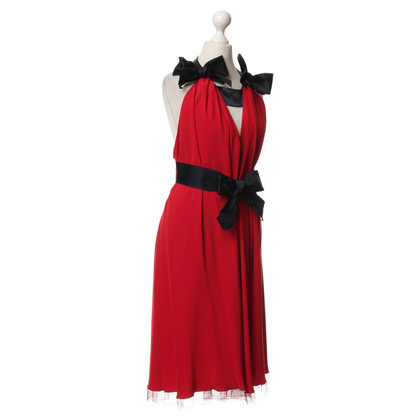 Alexis Mabille Red dress with bows