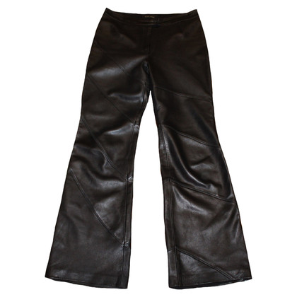 Escada Pantaloni di pelle in nero