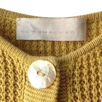 Schumacher Cardigan in giallo senape
