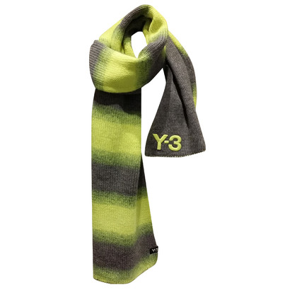 Y-3 Scarf in grey and neon yellow