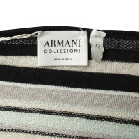 Armani Collezioni Gestreepte fijn gebreid shirt