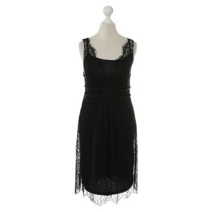 Velvet Lace dress in black