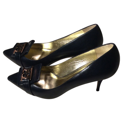 Escada Leather Pumps in blue