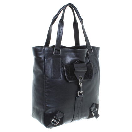 Christian Dior Ledershopper in Schwarz