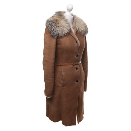 Gucci Lambskin coat in light brown