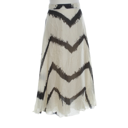 Costume National Silk skirt in cream / black