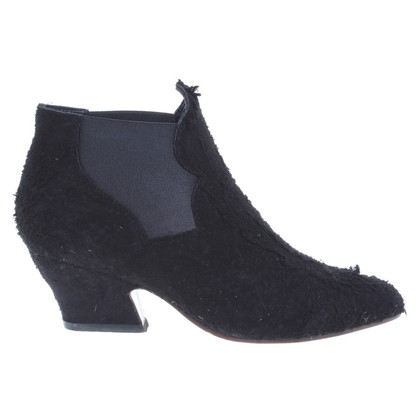 Acne Suede Ankle Boots in used look