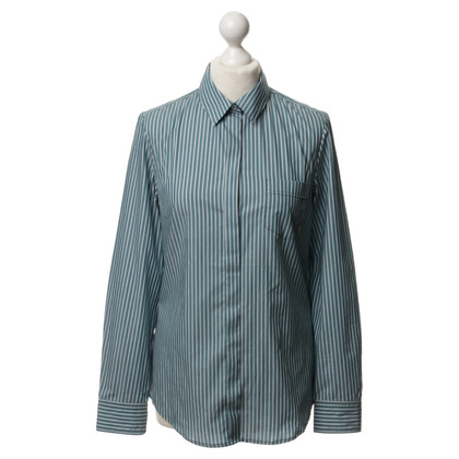 Max Mara Striped shirt in bright teal