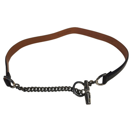 Ralph Lauren Leather belt with chain element