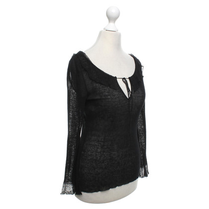 Alberta Ferretti top in black