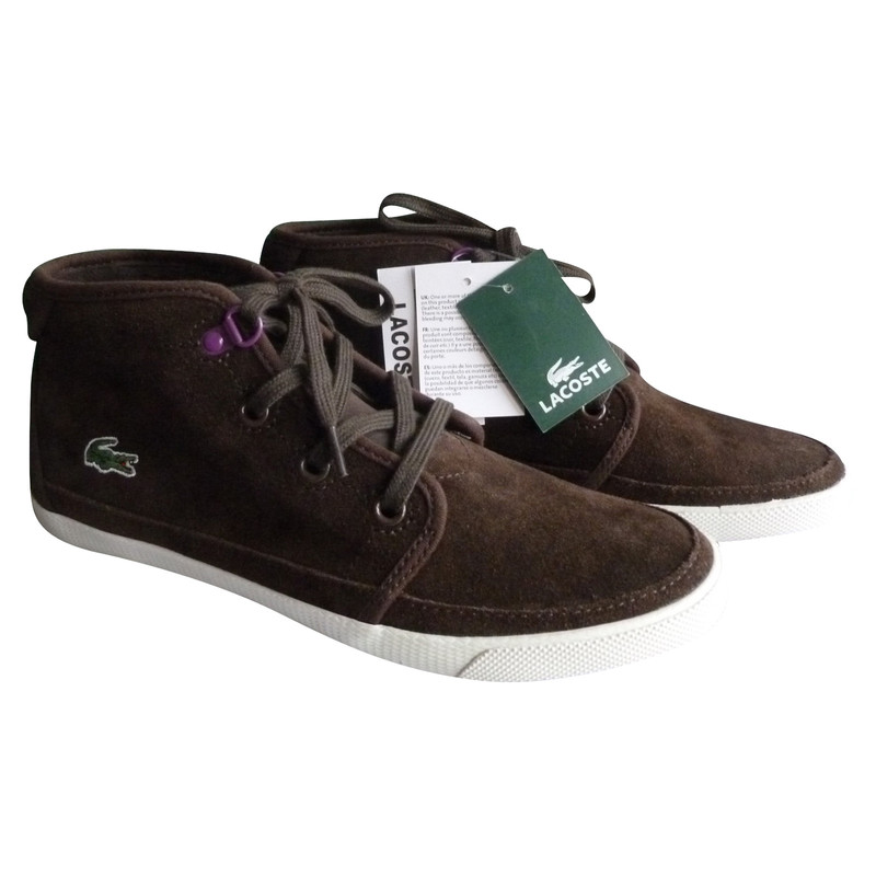 lacoste suede trainers