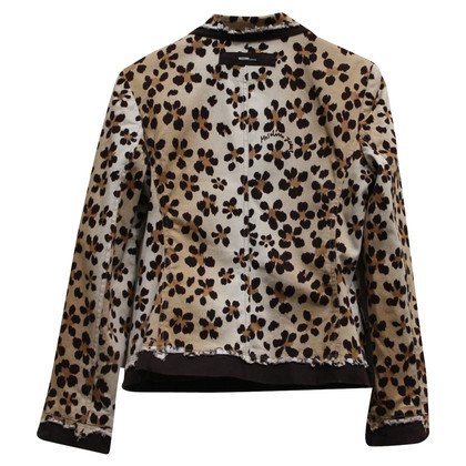 Moschino giacca Leopard