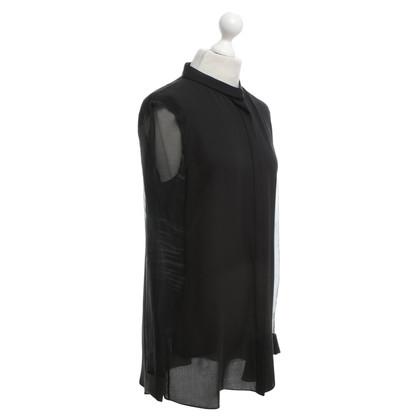 Joseph blouse de soie en noir