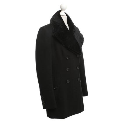 Burberry Prorsum Mantel mit Echtfellkragen