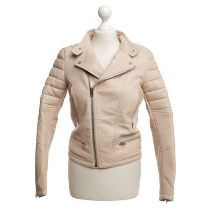 Joseph Biker leather jacket in Nude