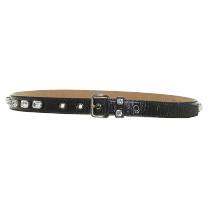 Miu Miu Belt with decorative stone trim