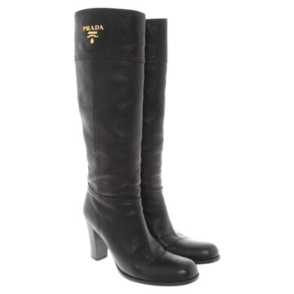 Prada Leather boots in brown